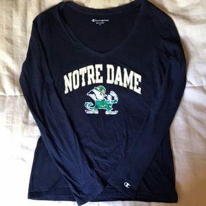 Notre Dame V- Neck Tee